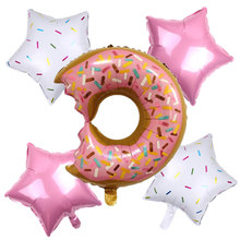 TSZWJ  X-173 New 5pcs/lot Donut Candy Shape Balloons Wedding Party Room Decorating Balloon Toy Wholesale