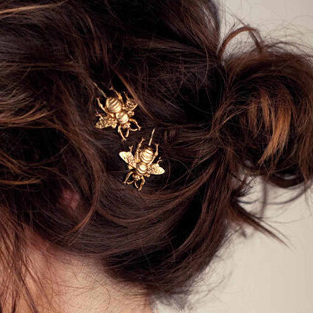 Baru Bee Jepit Rambut Sisi Klip Rambut Aksesoris Rambut Klip Jepit Rambut untuk Wanita Perhiasan Hiasan Kepala Yang Indah Gadis Rambut Klip Clamp