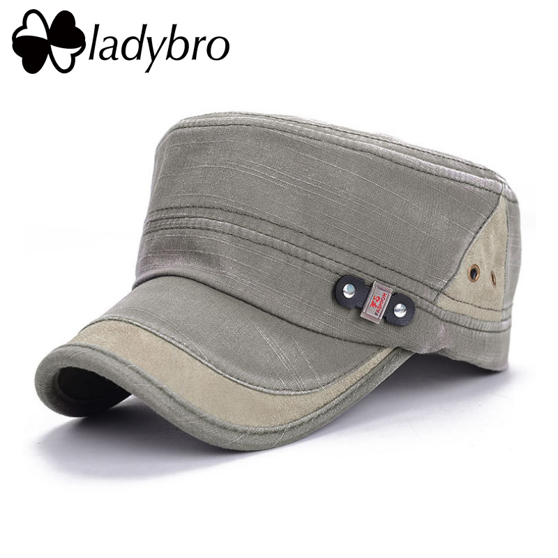 Ladybro Men Hat Cap Women Flat Army Hat Snapback Female Baseball Cap - Kledingaccessoires - Foto 4