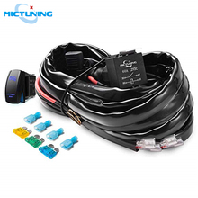 Wiring-Harness-Kit MICTUNING Rocker-Switch Led-Light-Bar 60amp-Relay with Free-Fuse