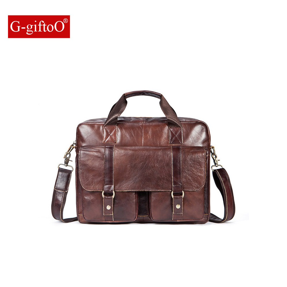 Men Bag Genuine Leather Bag Men Crossbody Bags Messenger Men's Travel Shoulder Bags Tote Laptop Briefcases Handbags 9005 lacus jerry genuine cowhide leather men bag crossbody bags men s travel shoulder messenger bag tote laptop briefcases handbags