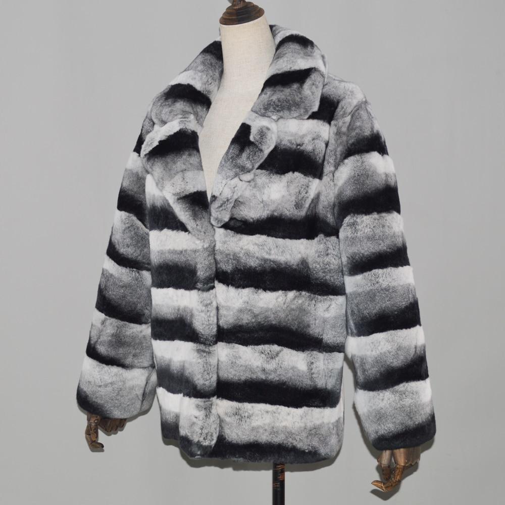 Bonne Lapin Veste Fourrure Chaud Femmes Complet De Courte Rex Qualité Hiver Manteaux Manteau Véritable Réel Grey Luxe Pelt rw04rqU