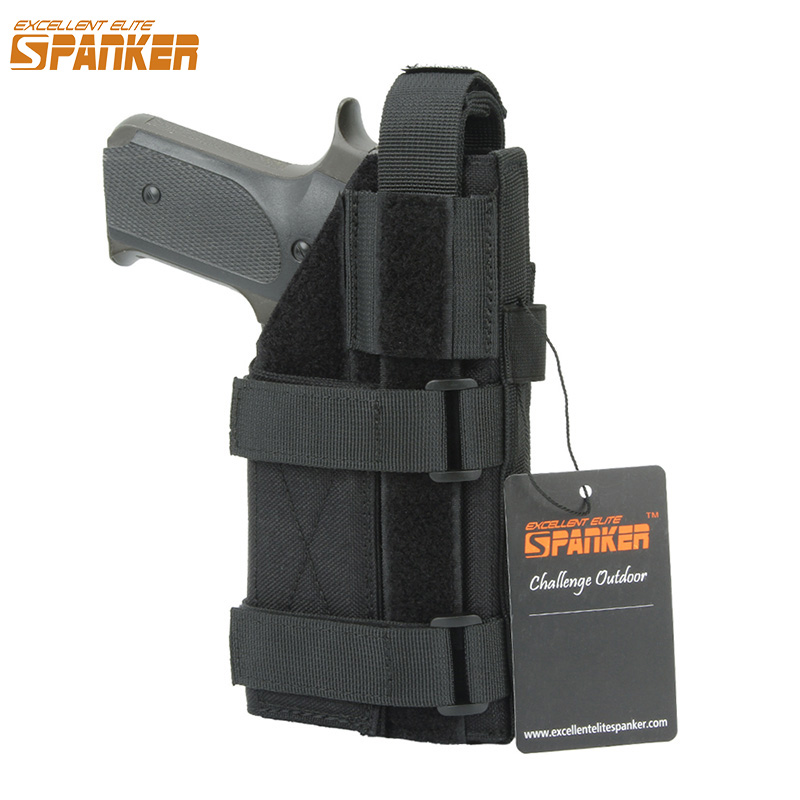 EXCELLENT ELITE SPANKER Outdoor Tactical Combat Universal Pistol Holster Military Training Molle Gun Holster Hunting Accessories glock17 quick release gun pistol holster black