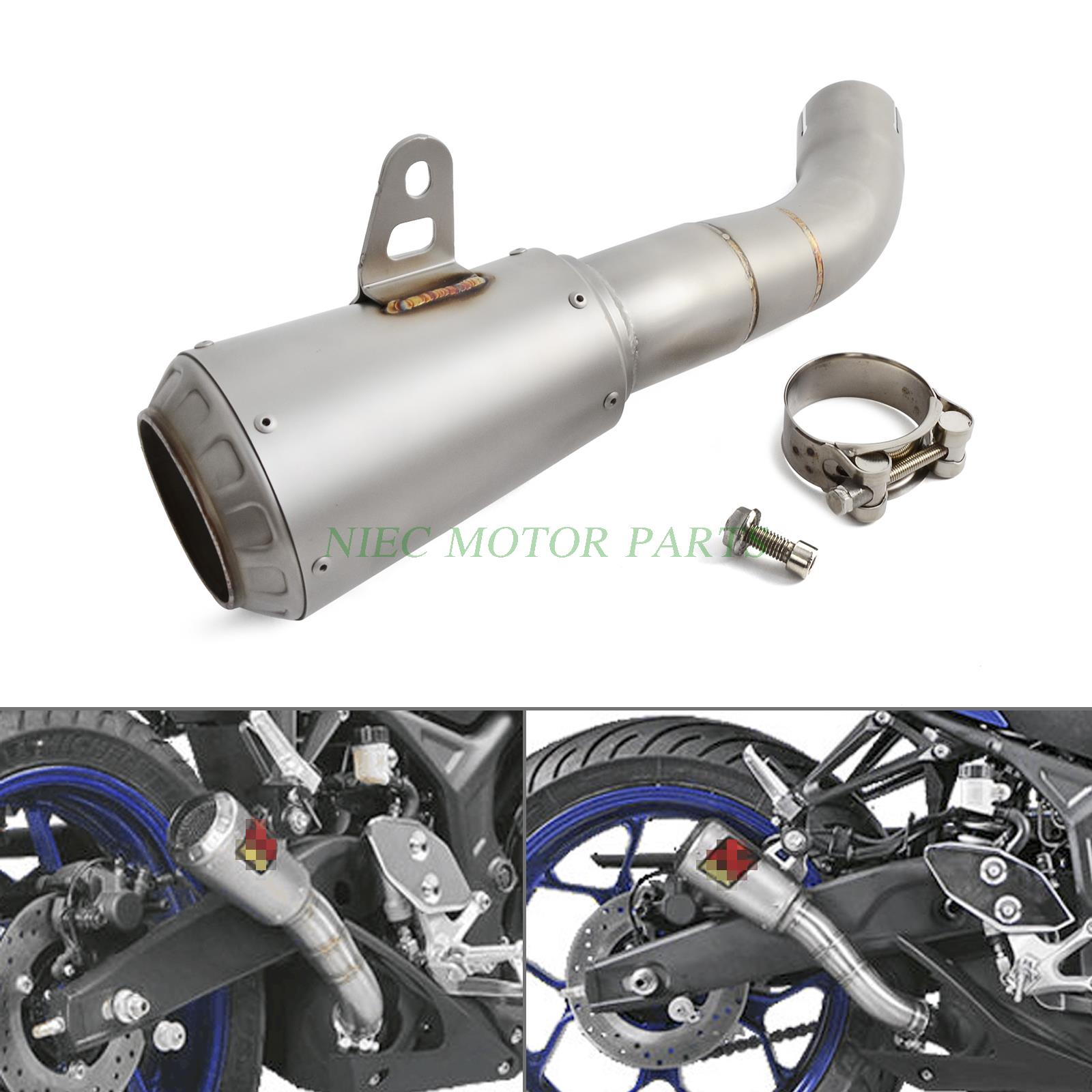 Мотоцикл Выскальзование нержавеющей стали на выхлопной с-Y2SO11-AHCSS для Ямаха YZF R3 с Р25 2015-2016 2017