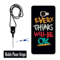 Hot New 1pcs Telephone Neck Straps Fashion Universal Detachable Lanyard For samsung note2 3 4 5 lanyard neck strap For Keys With