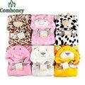Cobertor do bebê Swaddle Fleece Macio Animais Recém-nascidos Envelopes Para Recém-nascidos Swaddle Crianças Roupão de Banho Com Capuz Toalha de Banho Crianças Toalha