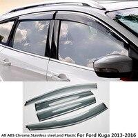 Alta qualidade tampa Do Carro Janela de vidro de plástico Vento Visor Chuva/Sun Guard de ventilação quadro lâmpada 4 pcs Para Ford Kuga 2013 2014 2015 2016