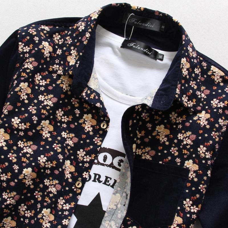 toturn 2017 Slim Fit Shirt Men brand Shirt Long Sleeve Spring Fashion flower Dress Shirts Cotton Social Camisa Masculina CS287