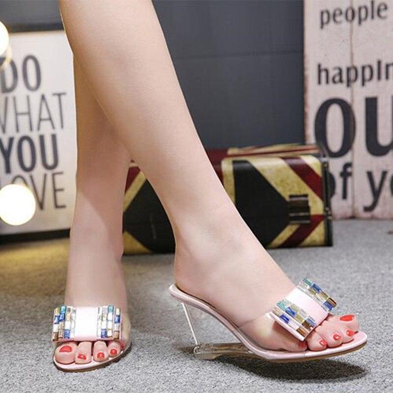 5 Apricot Alto Moda Zapatos Elegante 8 Cm Mujer 2019 De rosado Confort Tacón Nueva Zapatillas fqgvw