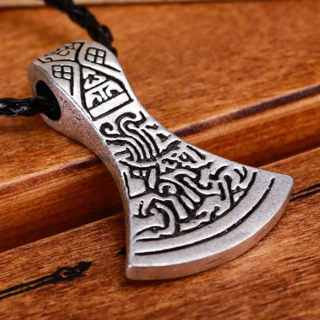 1pc Norse Viking Charm Vintage Symbol Axe Of Peru Odin Loki Asgard