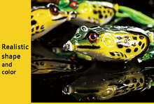 5Pcs/lot Frog Fishing Lure Soft Plastic Bait Top water Crankbait minnow popper tackle Bass snakehead catcher baits set Bionics