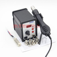 RIESBA 700W 858D ESD Hot Air Gun Soldering Station Digital Desoldering Station 7 Air Nozzles Heating