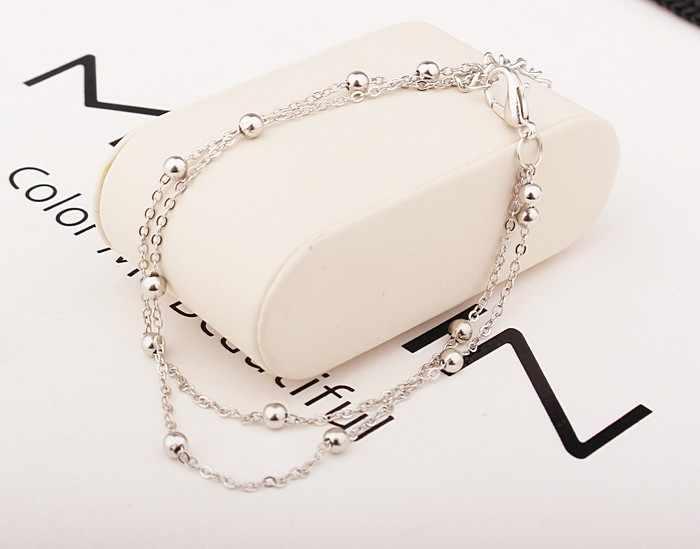 2018 חדש אופנה הנעלה תכשיטי פאנק סגנון זהב/כסף שני-צבע שרשרת קרסול צמיד משלוח חינם צמיד רגל שרשרת
