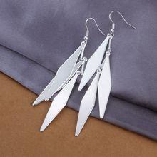 Estilo del verano fine silver plated pendientes 925-sterling-silver belleza joyería pendientes de gota para para SE318