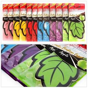 Image 4 - 12pcs/lot Auto Shine Paper Hanging Car Air Freshener Vanilla perfume/fragrance Leaf Shape Free Shipping Air Freshener