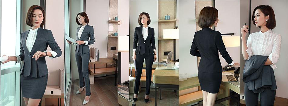 2c1dcac87e8b QBK DPU marchi di abbigliamento di affari sottile ufficio OL donne ...