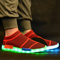 Mens Light Up Shoes Unisex Casual Shoes 2016 New Femme Glowing shoes With Lights For Adults krasovki Men LED trainer neon basket