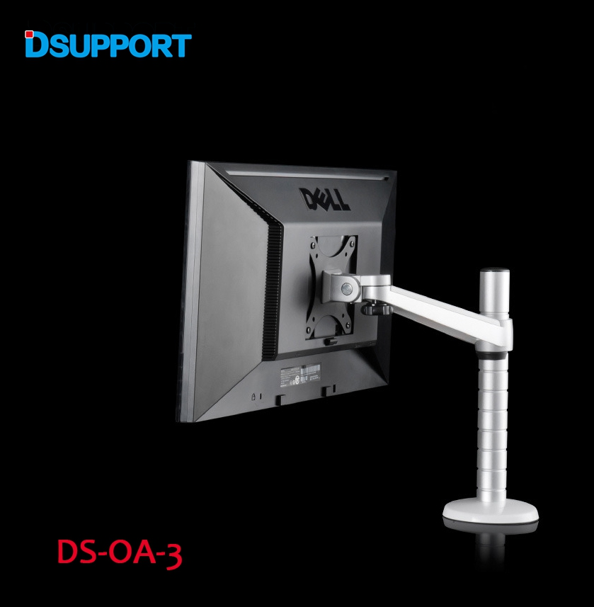 OA-3 Height Adjustable Within 27 Inch LCD LED Monitor Holder Arm Bracket 360 Degree Rotatable Computer Monitor Stand