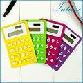 Portable Foldable Silicone Mini 8 Digital Calculator Solar Energy Multi Color Soft keyboard Creative Magnetic adsorption