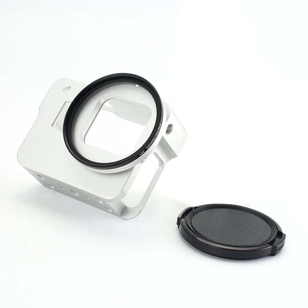Aluminum Alloy Shockproof Hard Shell Housing FPV Sports Camera Case Frame Mount with Lens Cap for GoPro Hero 5 CAM Parts Hobby