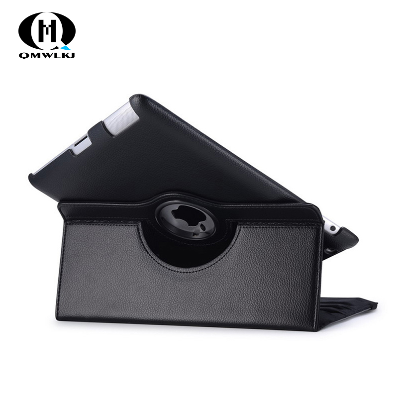 For iPad Air 1 2 Case 360° Rotating Flip PU Leather Case Cover For iPad1 iPad 2 Stand Cases Smart Tablet Cover Sleep Wake in Tablets e Books Case from Computer Office