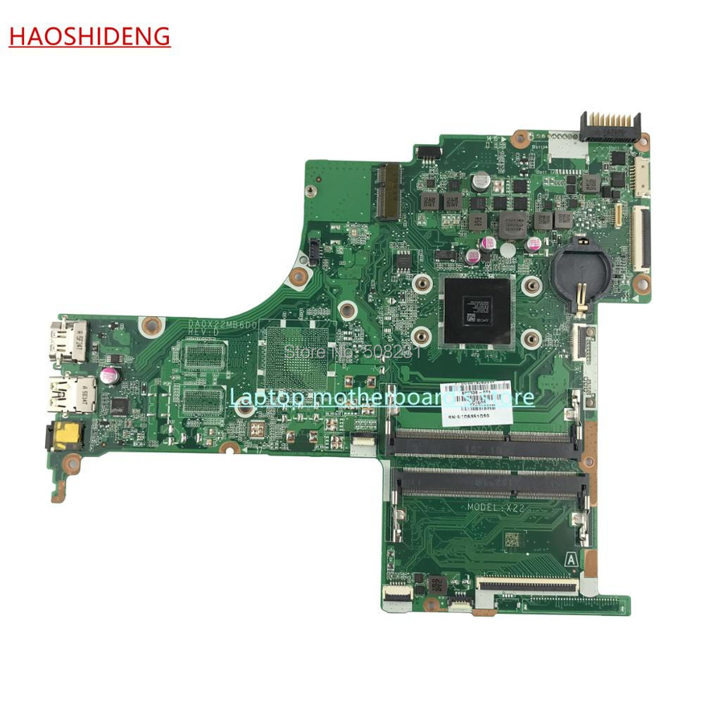HAOSHIDENG 809336-601 DA0X22MB6D0 X22 for HP PAVILION NOTEBOOK 15-AB 15-AB188CY motherboard with A6-6310 CPU,fully Tested 722204 501 722204 001 for hp pavilion 15 e 14 e motherboard a6 5200m tested working