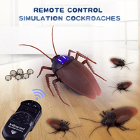 Infrared Remote Control Cockroach RC Toy Mock Realistic Fake Cockroach Prank Insects Joke Scary Trick Bugs for Party antistress