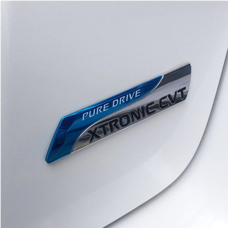 GT-R Metal Grille Emblem XTRONIC CVT PURE DRIVE Badge Decal Logo Car Sticker