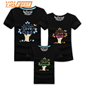 New 13 Colors Mom Dad Baby The Happy Family Printed Family Matching Outfits Clothing Summer Cotton Female Male Children T shirts