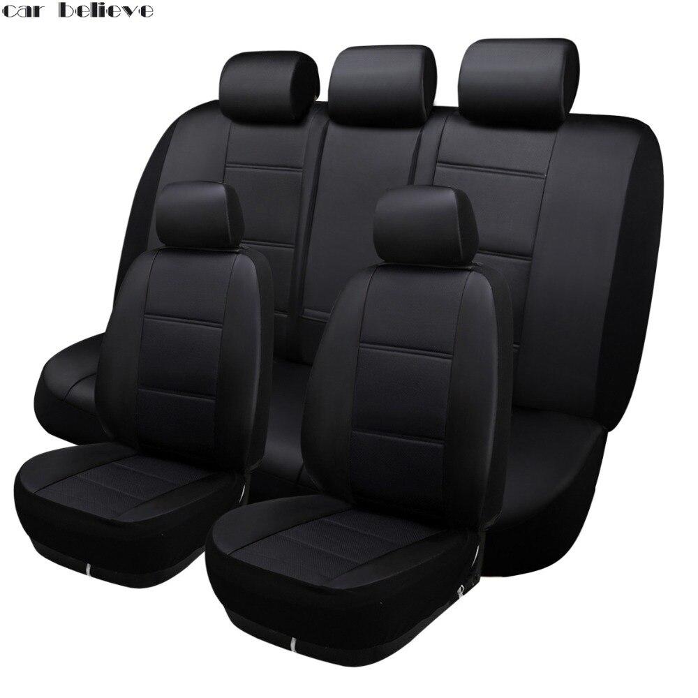 где купить Car Believe Universal Auto car seat cover For skoda rapid superb 2 yeti kodiaq octavia a5 car accessories seat protector по лучшей цене