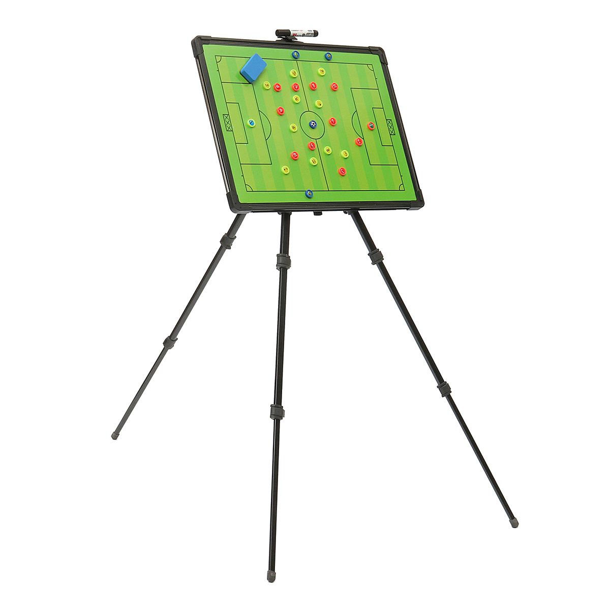 Professional Football Tactical Coaching Board 60x45cm Training Guidance Magnetic w/ Tripod Stainless Steel+PVC Convenient greg bach coaching football for dummies