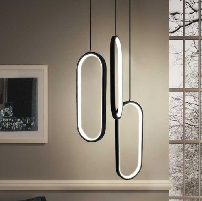 Black/White Color Modern Led Pendant Lights For Living Room Dining Room Acrylic Aluminum Body LED Pendant Lamp Free Shipping