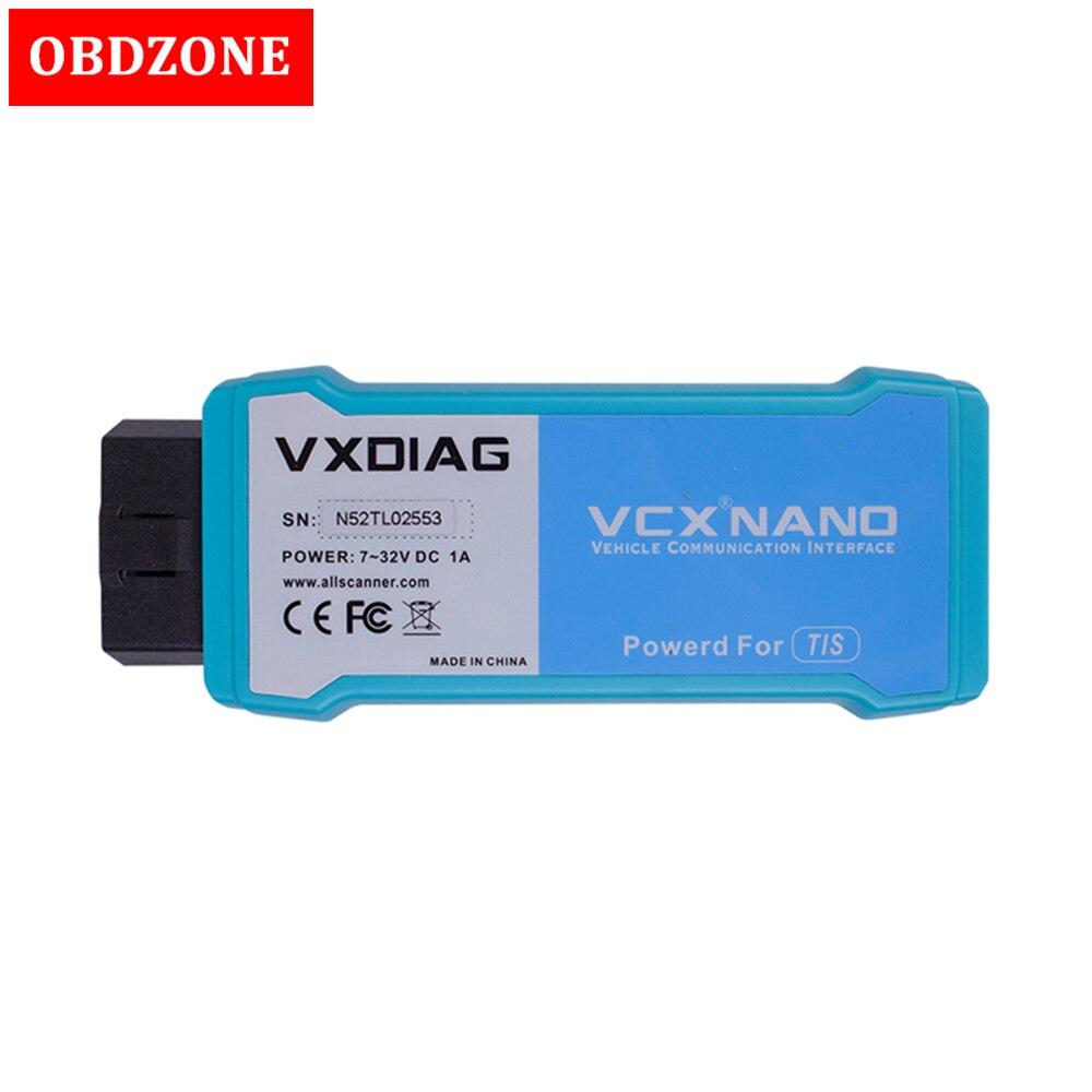 VXDIAG VCX NANO for TOYOTA TIS Techstream V12 00 127 Compatible with SAE J2534 USB WIFI