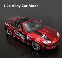 1:24 Advanced alloy Roadste model, high simulation Mazda MX5, metal casting, high quality collection model,free shipping