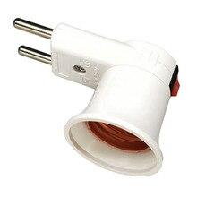 Новое поступление держатель лампы адаптер с выключателем E27 светильник настенная розетка Европейская розетка Markel viko