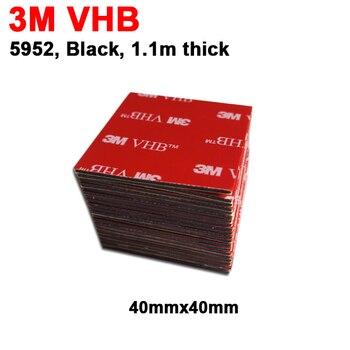 Cinta de espuma acrílica adhesiva de doble cara para videocámara DVR, soporte para coche, 4cm x 4cm, 3M, VHB 5952, 40x40mm