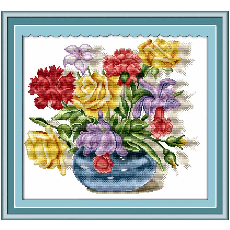 Legends of the rose Counted Cross Stitch 11CT  14CT   Cross Stitch Set flowers Cross-stitch Kits Embroidery Needlework