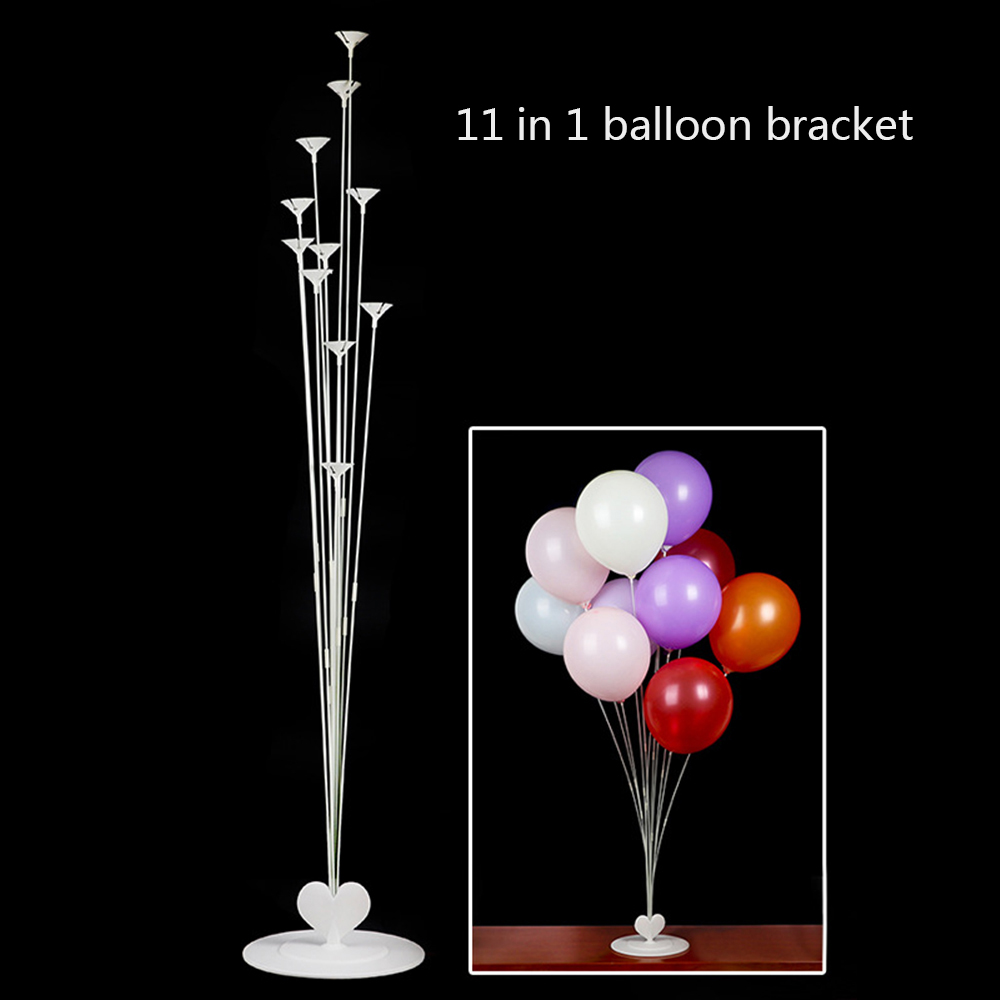 6 Piece Diy Tubes Balloons Holder Column Stand Clear -5609