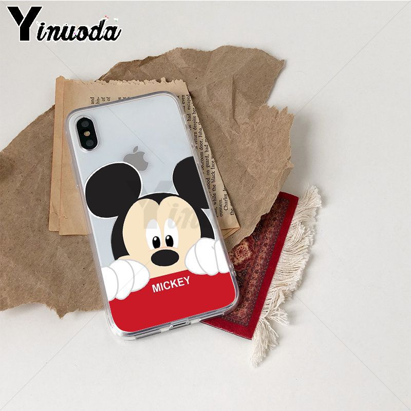Image 3 - Yinuoda Cute Mickey Mouse TPU Phone Case Cover Shell for iPhone X Xs Xr XsMax 10 7 7plus 8 8plus 6 6s 5 5S SE 5C-in Half-wrapped Cases from Cellphones & Telecommunications