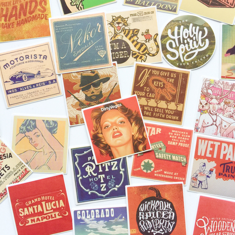 50pcs /Pack Vintage California Life Paper Stickers DIY Decorative Sealing Paste Stick Label 50pcs /Pack Vintage California Life Paper Stickers DIY Decorative Sealing Paste Stick Label