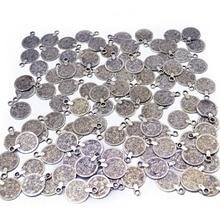 Богемные цыганские серебряные монеты, кулон, племенные амулеты, индийские массивные монеты, ожерелье, аксессуары, монеты, кисточки, ювелирные изделия, фурнитура, подарок