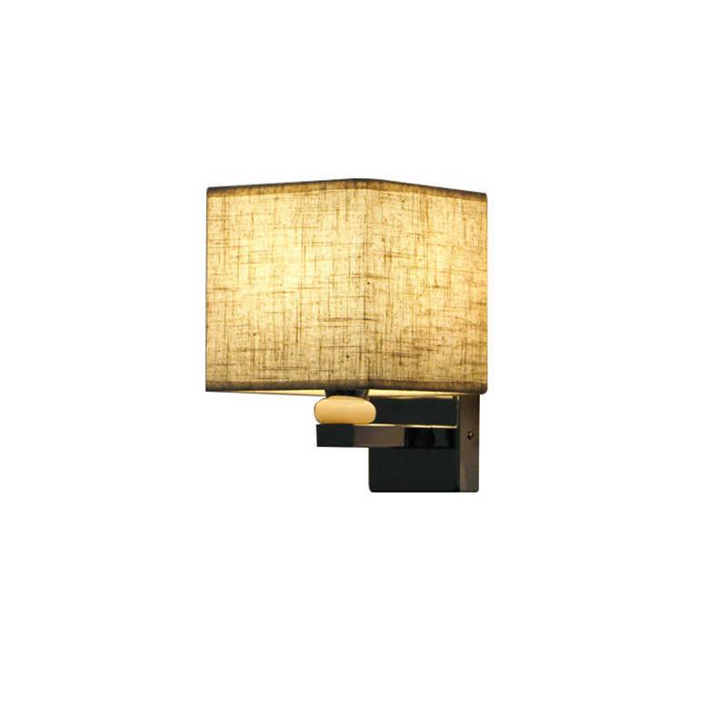 E27 Настенные светильники Современный нордический стиль нержавеющая сталь Крытый настенный светильник Спальня ткань настенный выключатель света, лампа для чтения Гостиная украшения светильник