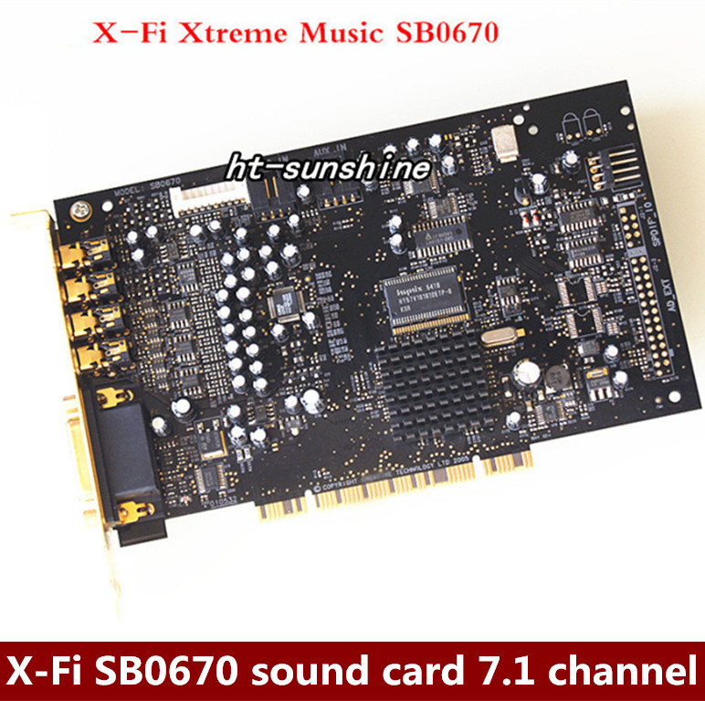 Used X-Fi SB0350 sound card 7.1 music game sound card,100% tested good цена