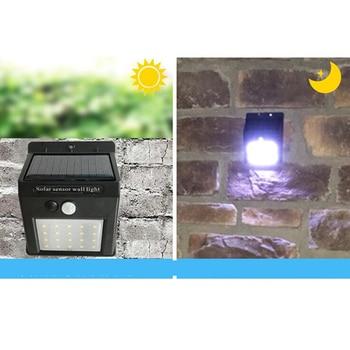 LED Solar Power PIR Motion Sensor led light Wall Light Outdoor Waterproof Energy Saving Street Home garden light Security Lamp