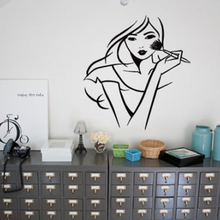YOYOYU Wall Decal Vinyl Art Stciker Creative Girl Women Fashion Salon Room Decoration Removeable Mural Poster YO541