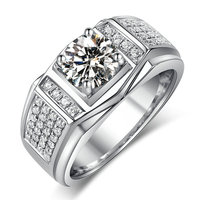 Модные украшения Новый Дизайн Jewelry Для мужчин кольцо AAAAA Циркон 5A камень циркон 10kt Белое Золото Заполненные Обручение обручальное кольцо