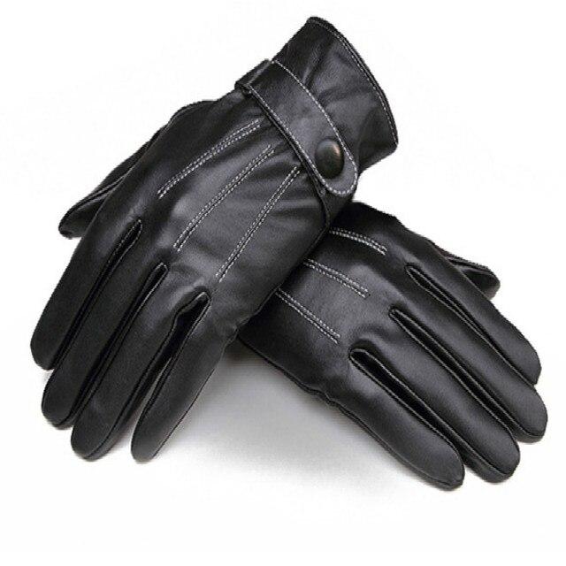 Полный Finger Мужчины Велоспорт Перчатки MTB Велосипед Перчатки Велосипедов Ciclismo Гонки Лыжи Вождения Толстые Противоударный Кожаные Перчатки