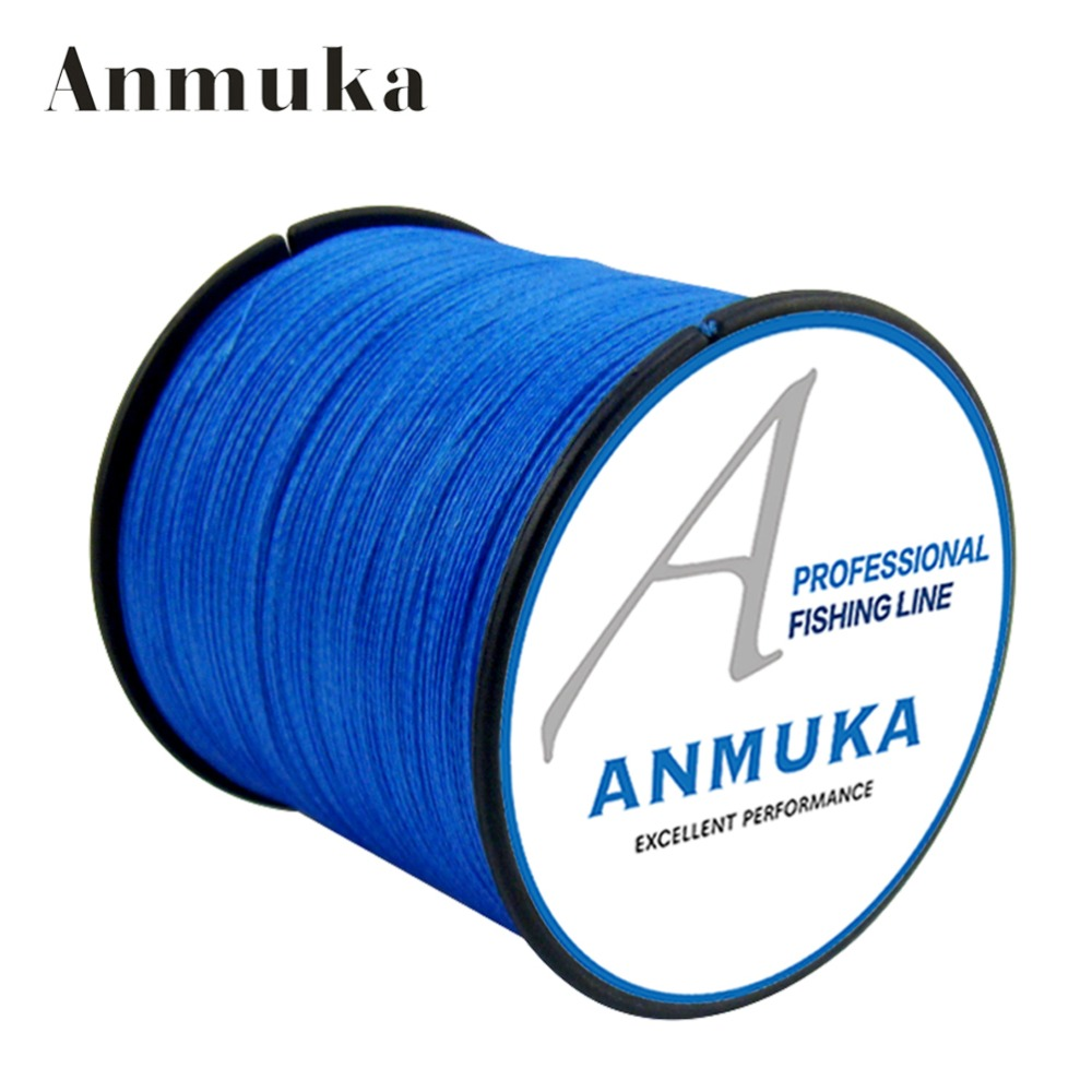 Anmnka 4 braided pe fishing line 300m 12 colors for Best braided fishing line saltwater