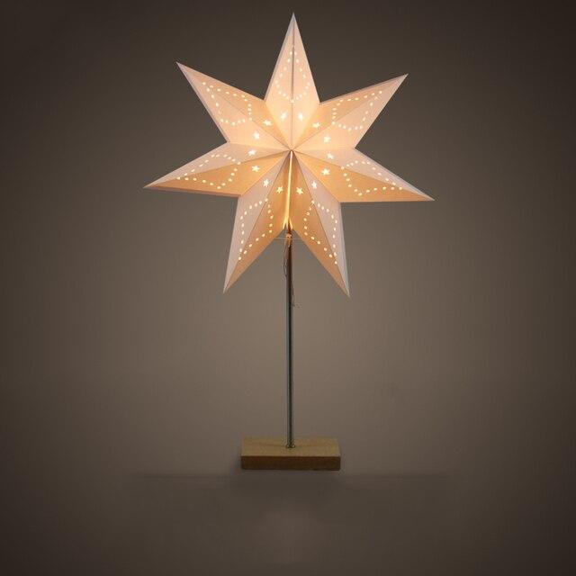 Led Desk lamp Table Light paper Star wood lamp Nordic design of modern retro minimalist