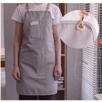 Denim Apron Outsides BBQ Senior Bib Pocket Kitchen Cleaning Apron For Women Men Cooking Restaurant Waitress